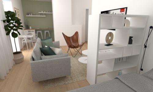 Réalisation Eodesign, décoratrice intérieur strasbourg Plan 3D 3