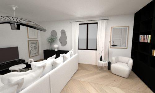 Réalisation Eodesign, décoratrice intérieur strasbourg Plan 3D 2